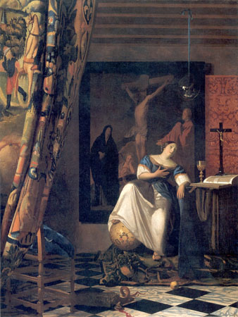 Alegorija vere, Jan Vermer van Delft, 1670-1672