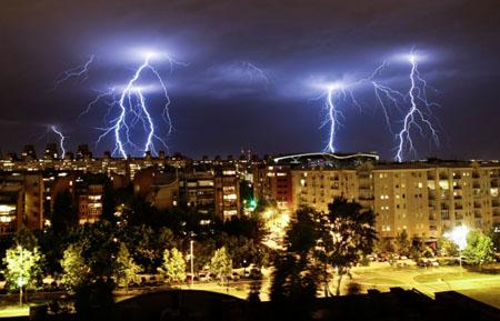 Munje iznad Novog Beograda, foto: M. Đurić