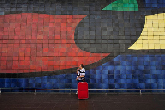 Spanish worker on his way to Germany, Marcelo del Pozo, Reuters