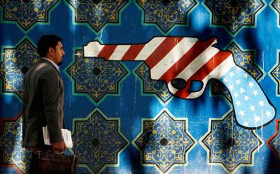 Tehran, Anti-USA grafitti,  Hasan Sarbakhshian, AP