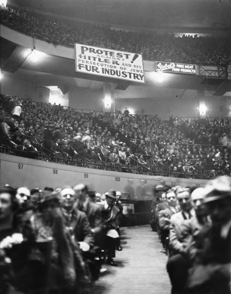 Protestni skup protiv dolaska nacionalsocijalista na vlast, 1933, Medison Skver Garden, Njujork