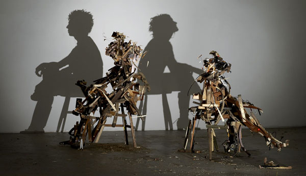 Shadow Art Ilusion: Wild Mood Swings, Tim Noble & Sue Webster