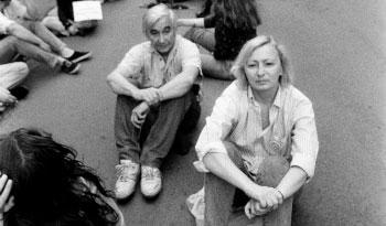 Andrej Mitrović na protestima 90ih, foto: Goranka Matić