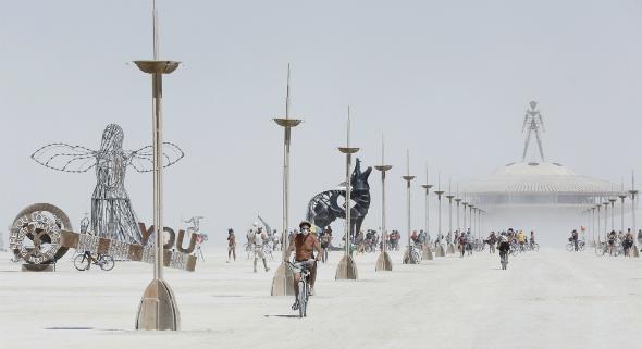Reuters, Burning man 2013.