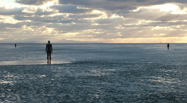 Antony Gormley's seamen sculptures: Another Place