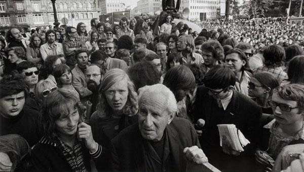 Herbert Marcuse in Frankfurt, 1972