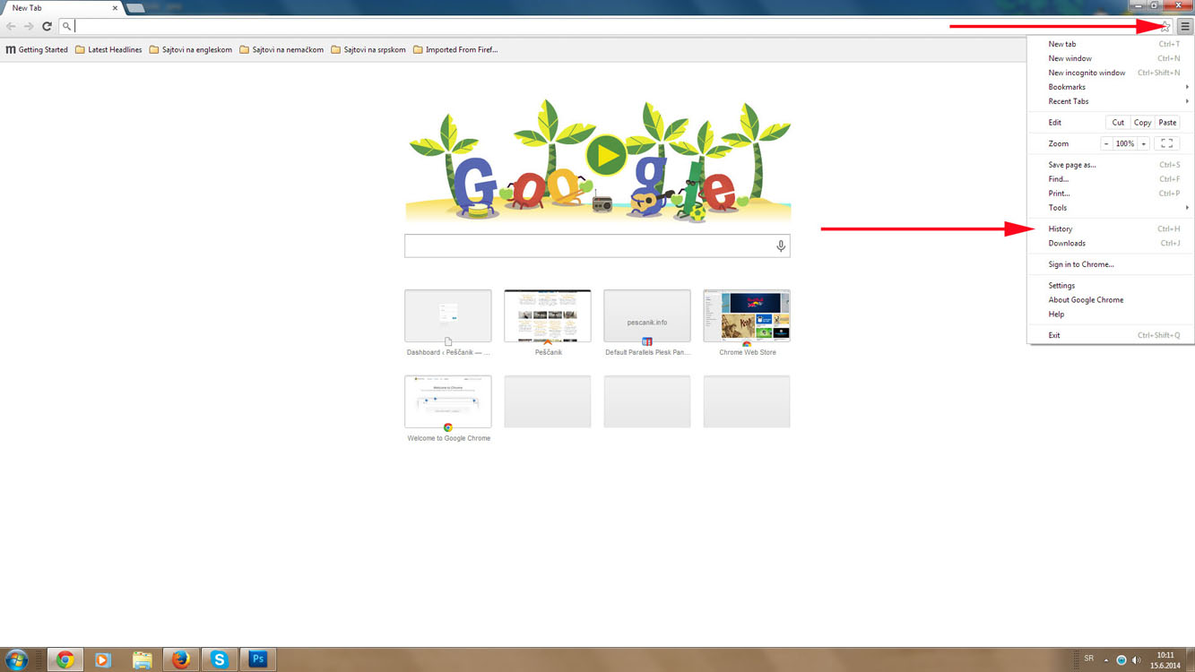 Slika 1 Google Chrome