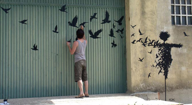 Street art by Pejac http://bit.ly/1h7FILI