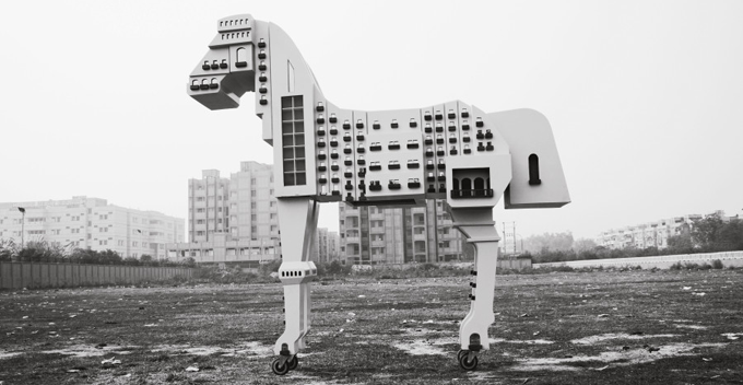 Gigi Scaria, Someone Left a Horse on the Shore, 2007, Delhi, India http://huff.to/1lZesjk