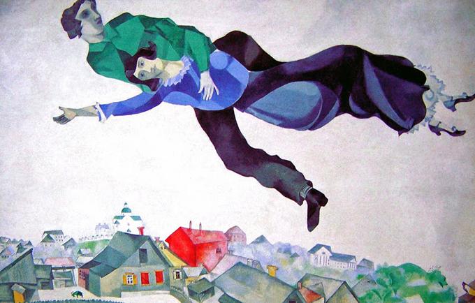 Marc Chagall, Iznad grada 1918 http://bit.ly/Uuvsau