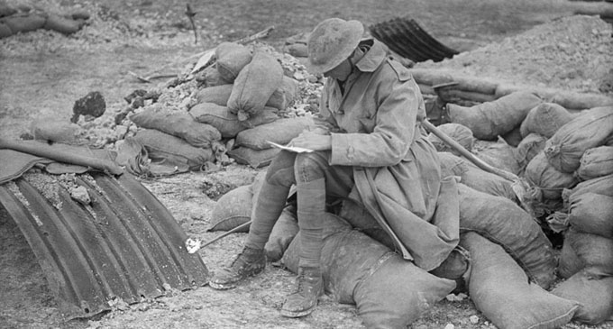 A British officer writing a letter http://bit.ly/1suaCoo