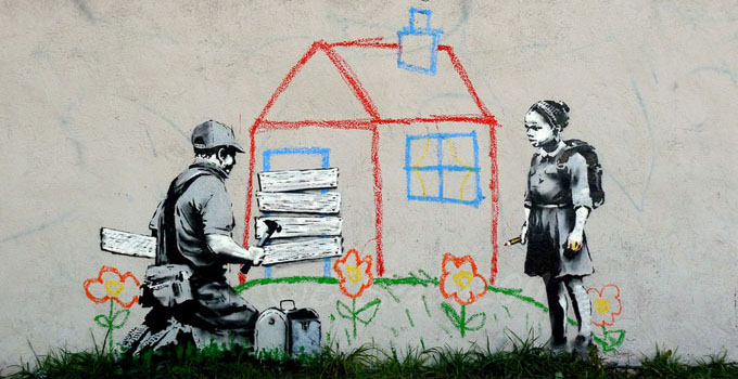 Banksy http://bit.ly/1qb8gtS