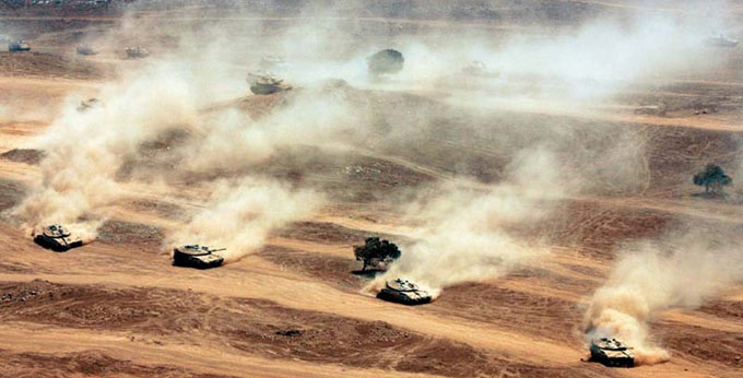 Israli Tanks in Golan height http://bit.ly/1qPUgo8