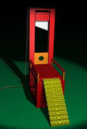 Lego Guillotine, by Skeletox
