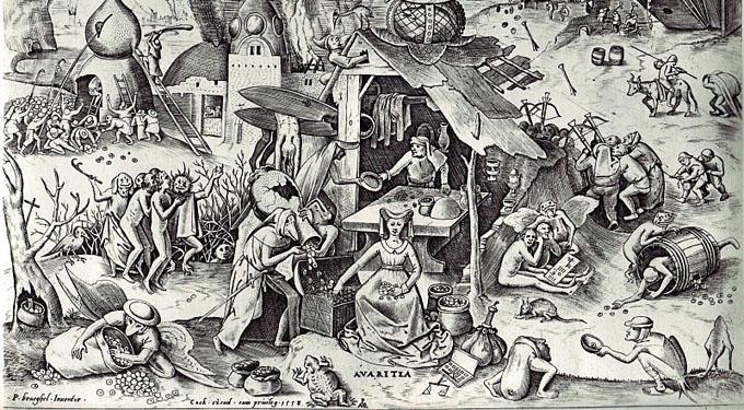 Pieter Bruegel the Elder, Greed http://bit.ly/1ms2gbS