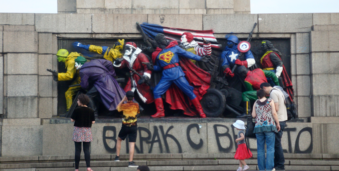 Soviet Army monument in Sofia http://bit.ly/VXfUNJ