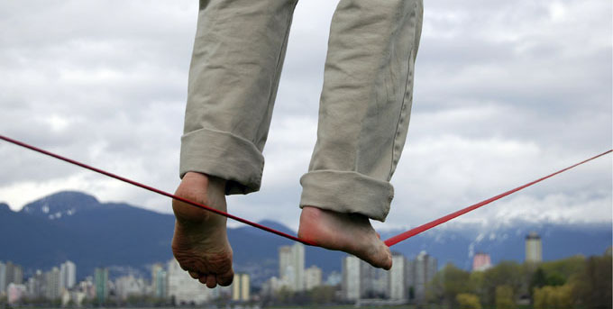 Walking A Tightrope http://bit.ly/1AGhIdc