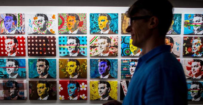 Warhol-like paintings of leader Orban http://bit.ly/1p5eZBw