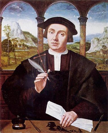 Notar, XVI vek, Quentin Massys