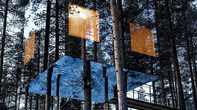 Treehotel Mirrorcube, Sweden bit.ly/YHTtOu