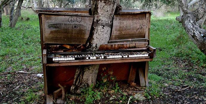 Deviant art, The old piano tree by Crackoala http://bit.ly/1vma2Nn