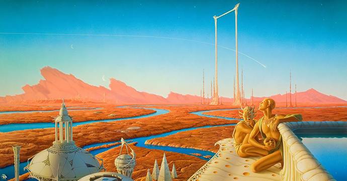 Ian Miller, korice za Marsovske hronike, Ray Bradbury http://bit.ly/1qYs0z1