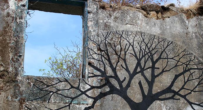 Pablo S. Herrero New Street Art In Noia, Spain http://goo.gl/oOlOKz