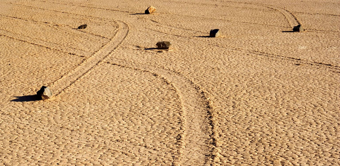 Sailing Stones of Death Valley http://bit.ly/11uCbW8