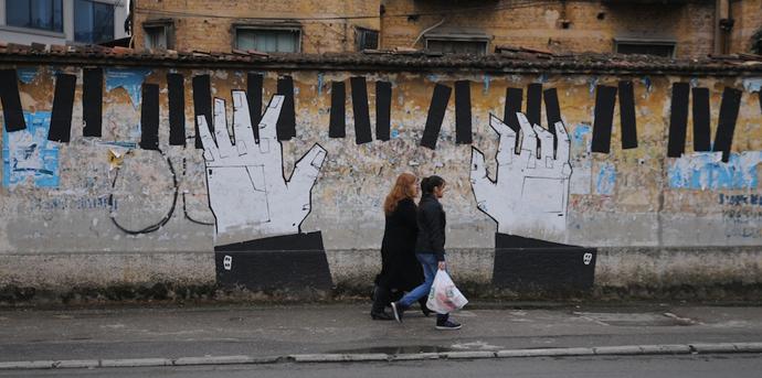 Tirana street art http://bit.ly/1DorguJ