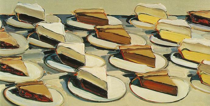 Wayne Thiebaud, Pies, Pies, Pies, 1961 http://bit.ly/1wskaTV