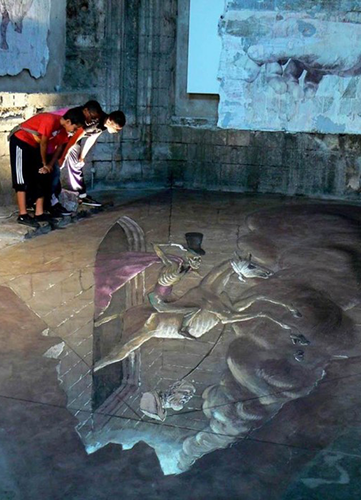 3D street art illusion, Eduardo Rolero http://goo.gl/396Blt