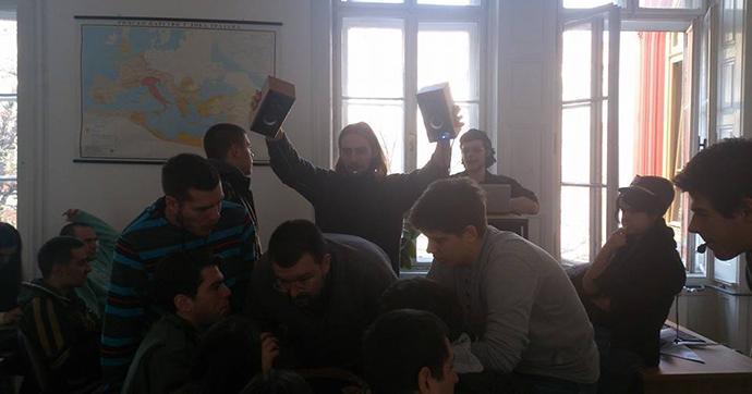 Čedomir Antić sa studentima