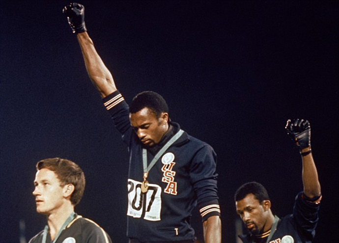 Olimpijske-igre-1968,-Peter-Norman,-Tommie-Smith-and-John-Carlos