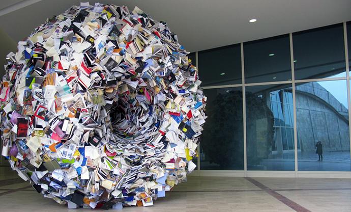Sculptures de livres par Alicia Martin