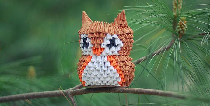 3D Origami Owl by JeanFan, DeviantArt http://goo.gl/gFS60y