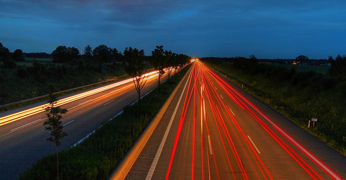 Highway At Night by wide_screen http://goo.gl/TQN8oi