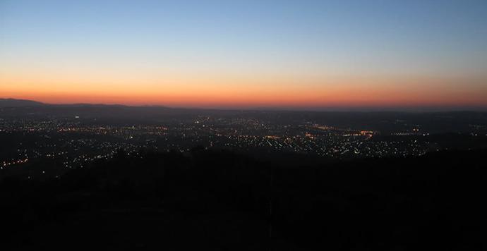 Kragujevac panorama by night, foto: Deki---KG