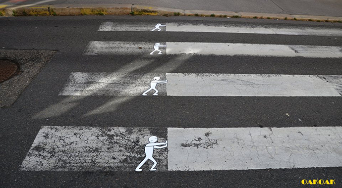 Street art illusions by OakOak http://goo.gl/6q2lRv