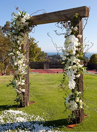 Country wedding arches on Pinterest<