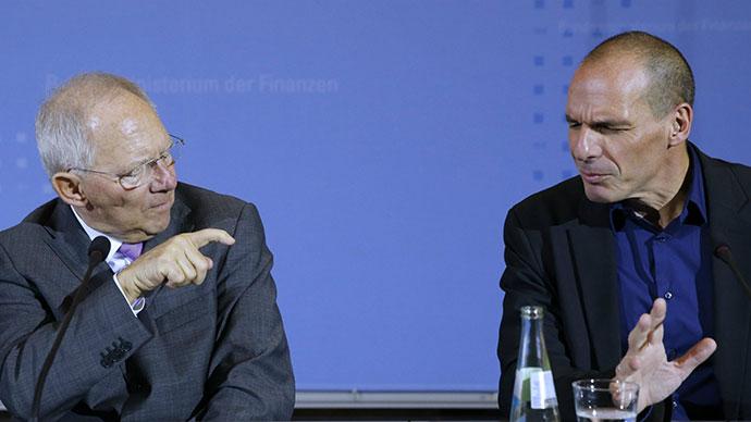Quartz, nemački i grčki ministar finansija: Wolfgang Schäuble i Yanis Varoufakis, Reuters/Fabrizio Bensch