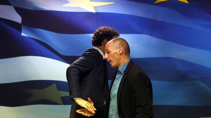 Yanis Varoufakis and Jeroen Dijsselbloem, The Telegraph, photo: Reuters