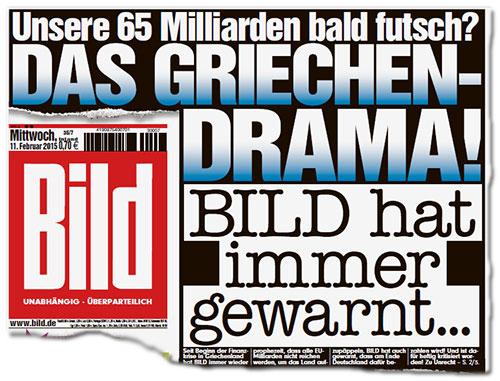 Grčka drama! Bild je oduvek upozoravao, Bildblog