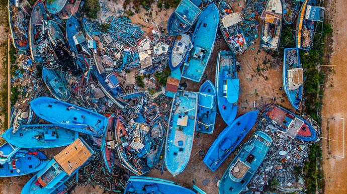 Groblje barki, Lampeduza 2014