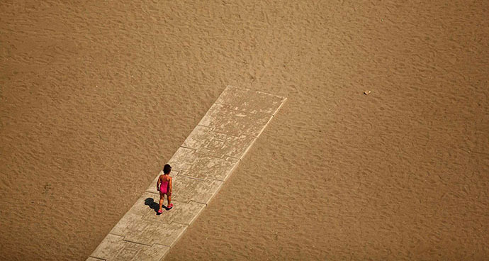 Malagueta plaža, Malaga, Španija, foto: Jon Nazca/Reuters