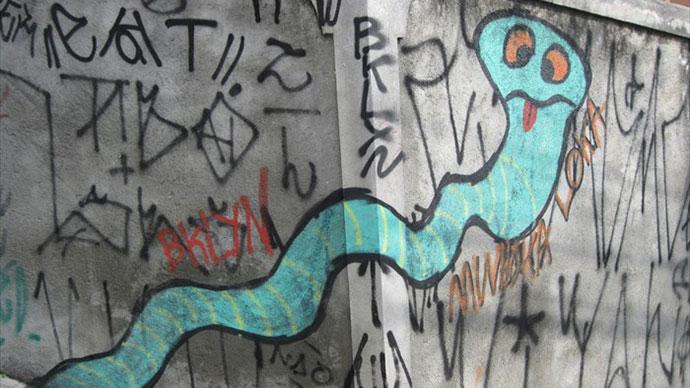 Snake graffiti, Sao Paolo, Brazil
