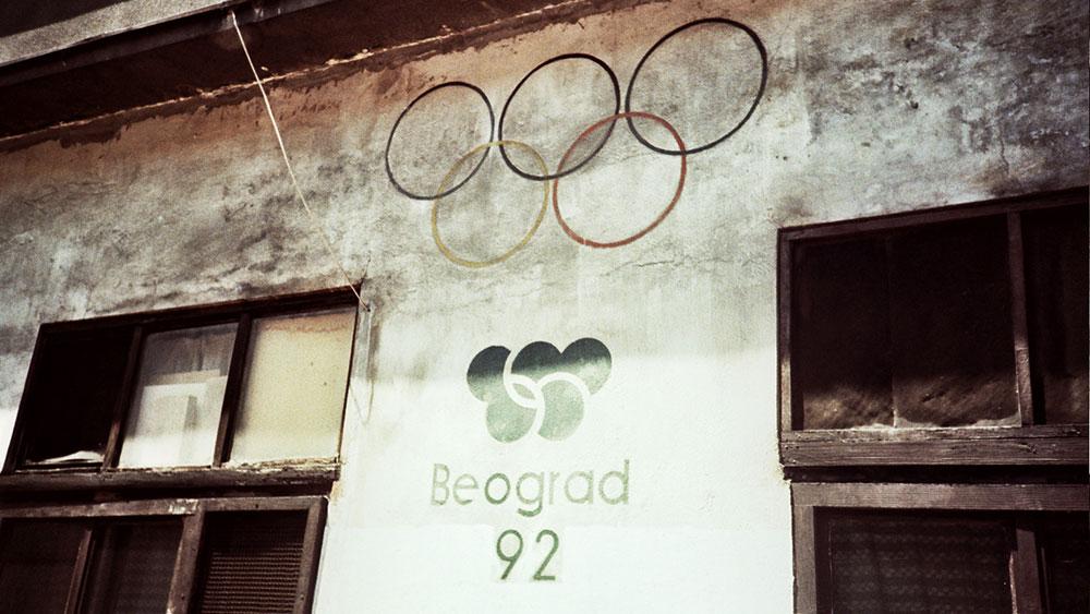 Fotografije čitateljki, Lazara Marinković, Promo za Olimpijadu – jedan od najstarijih stensila u Beogradu