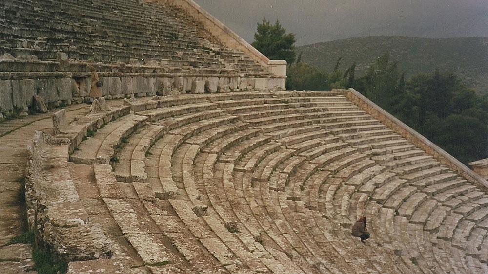 Autorka u Epidaurosu