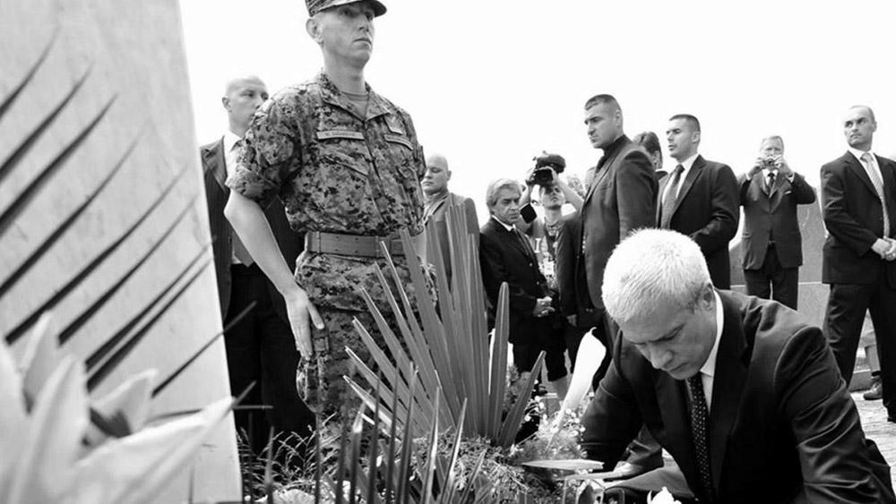 Boris Tadić u Srebrenici