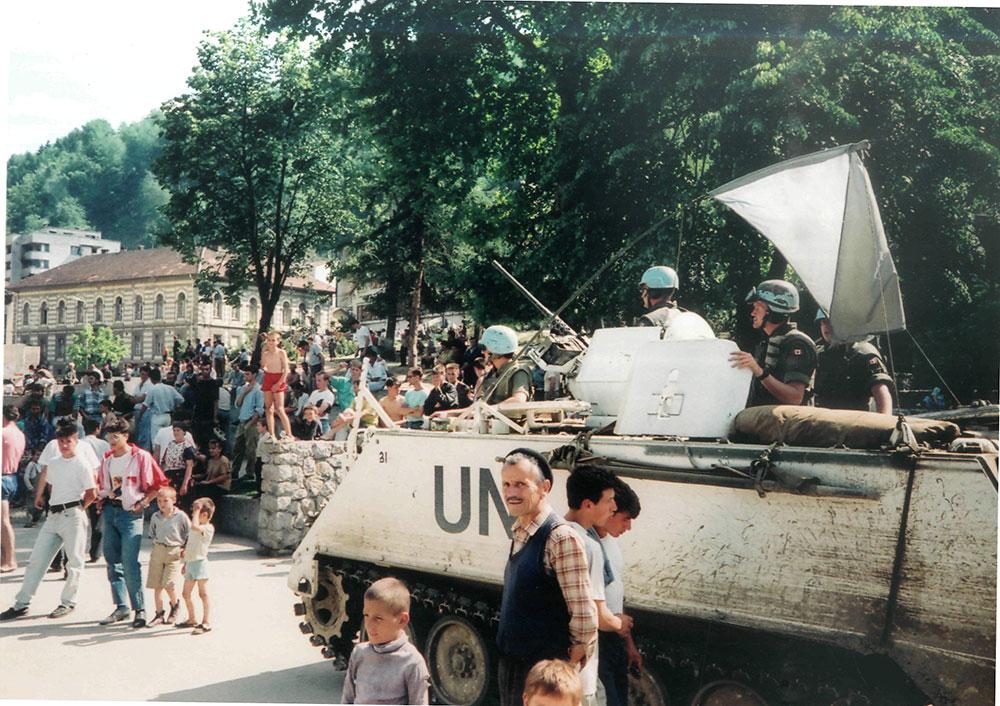 Srebrenica 1993. Snimio Z. Stevanović.
