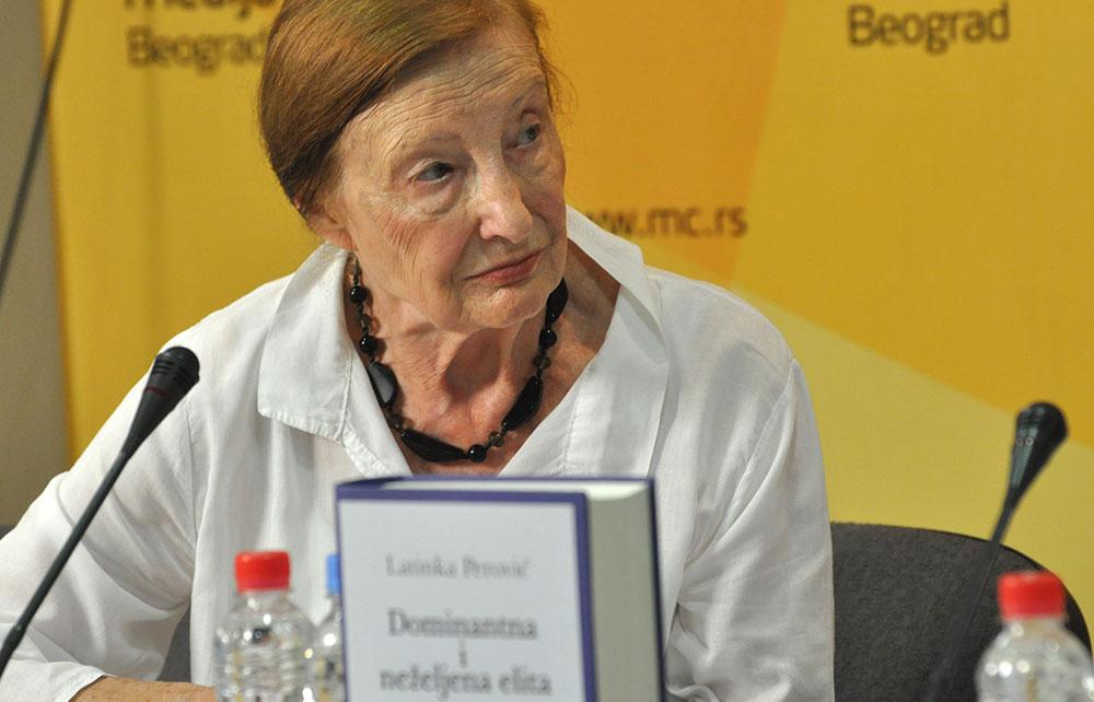 Latinka Perović, predstavljanje knjige u Medija centru